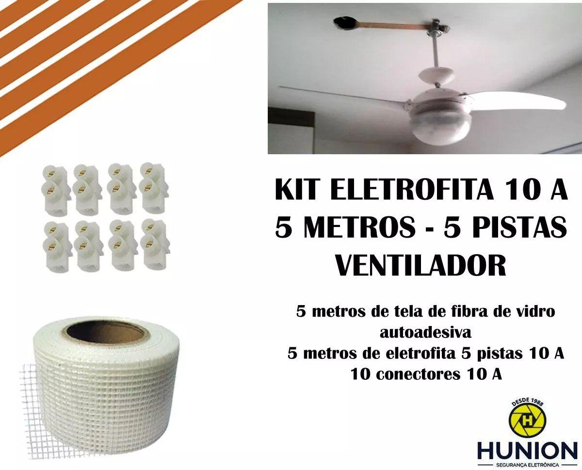 Kit Fita Elétrica Eletrofita 5 Pistas 5 Metros - Ventilador