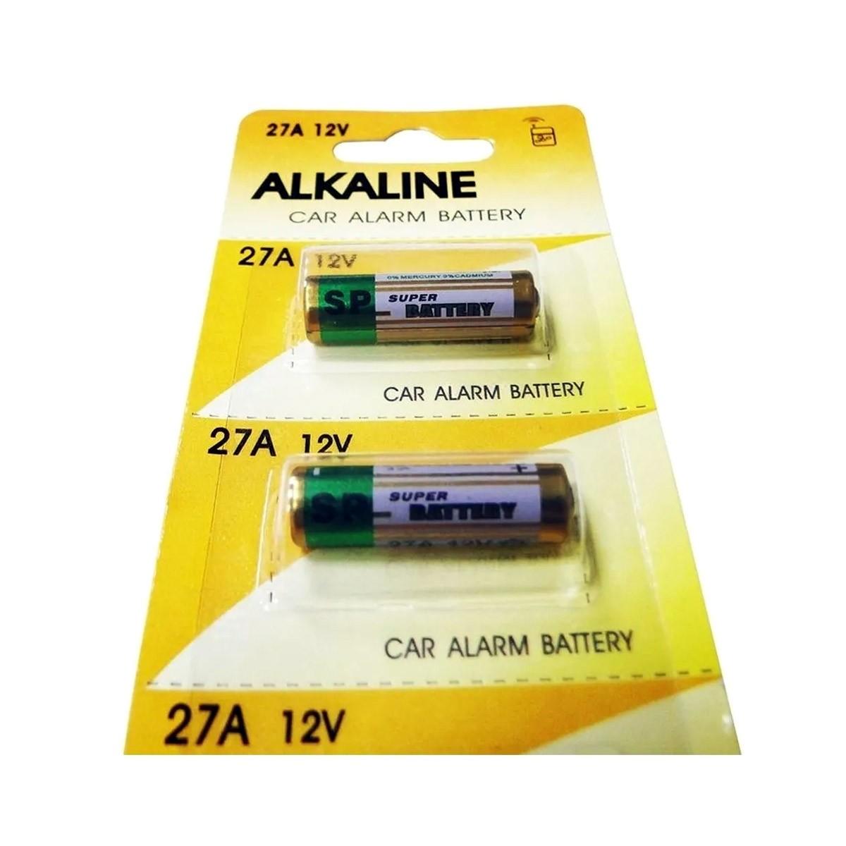Pilha 12v 27a Controle Portão Alarme Cartela Com 5 Baterias