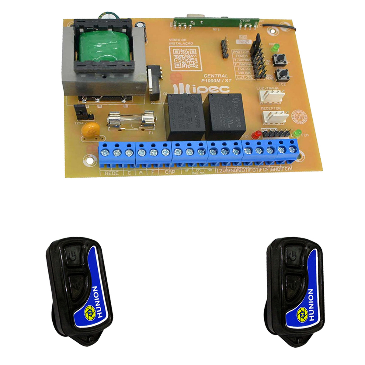 Placa Central Motor Portão Rossi Mx30 Kx30 Kx30fs Ipec e 2 Controles