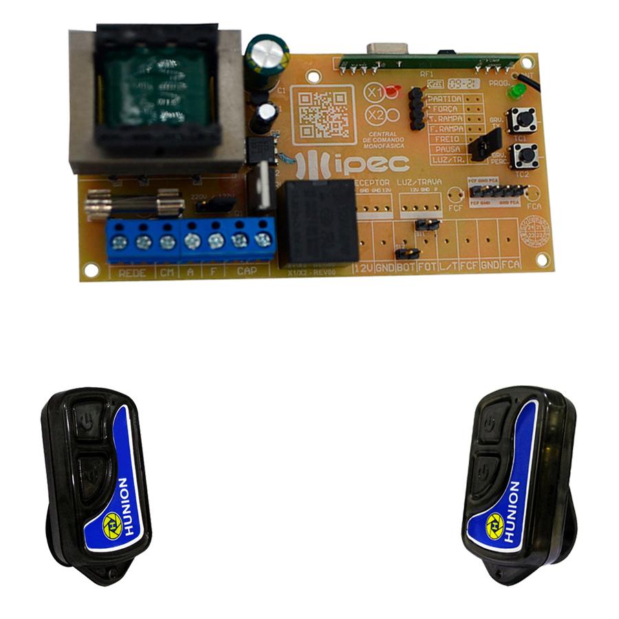 Placa Central Comando Motor Portão Universal e 2 Controles