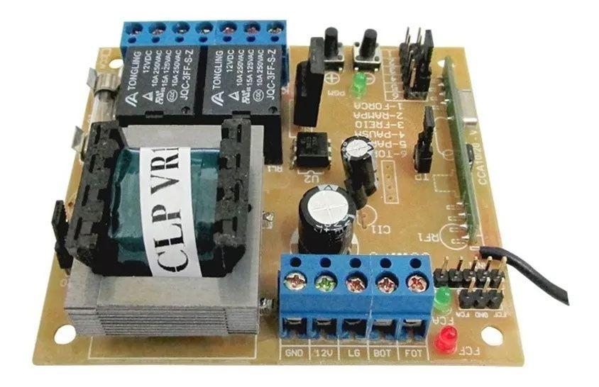 Placa Central Motor Eletrônico Portão Rcg Clp Tx Car Ipec
