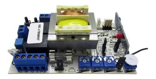 Placa Central Ppa 4 Trimpotes Motor Portão Com 2 Controles