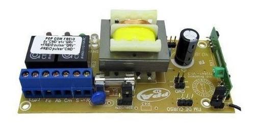 Placa Central Ppa Original Pop Motor Portão Com 2 Controles + Par De Sensor Fim De Curso