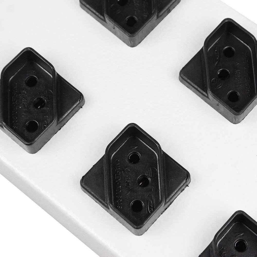 Regua 10 Tomadas Filtro De Linha Metal Diagonal Novo