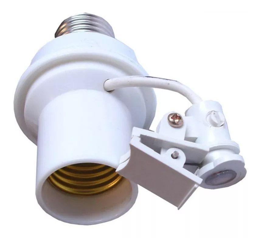 Soquete Fotocélula Relé Iluminação E27 Coruja Fotoelétrico