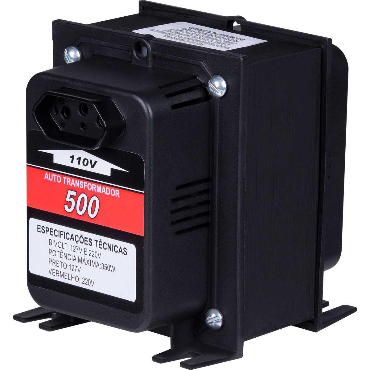 Transformador De Voltagem 500va 375w 110/220v E 220/110v