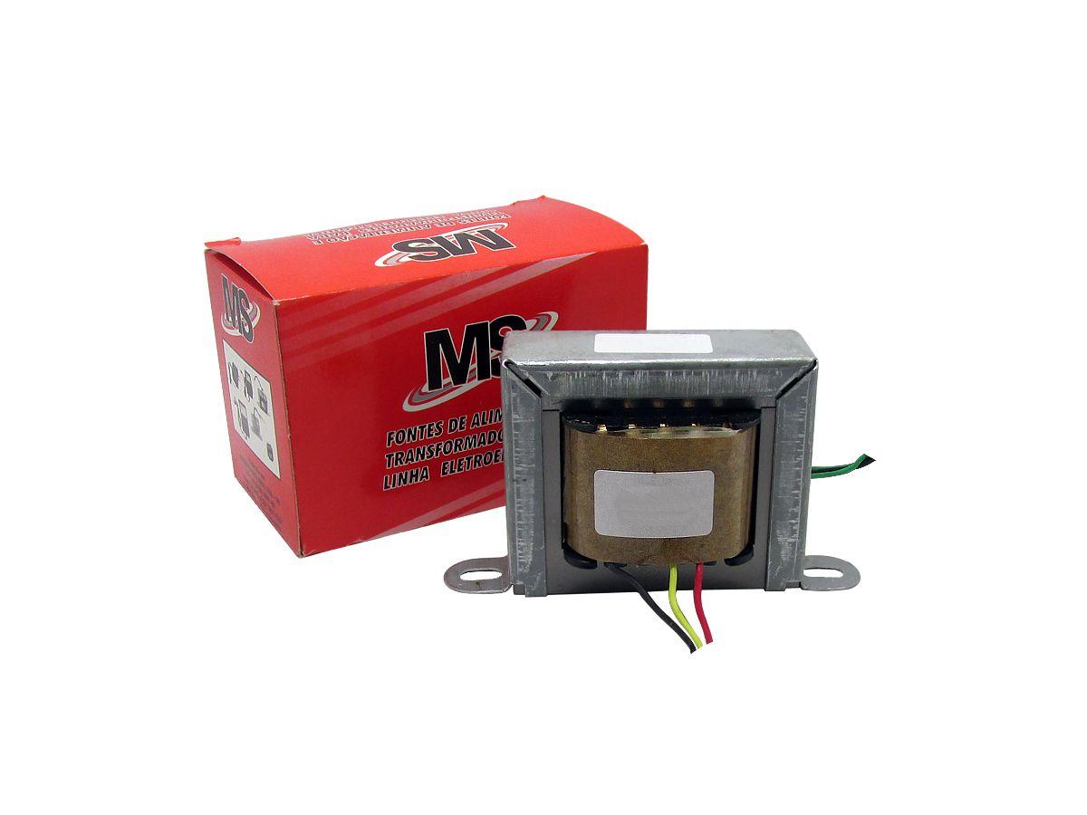 Transformador Trafo 6+6v 200ma Bivolt Eletronica
