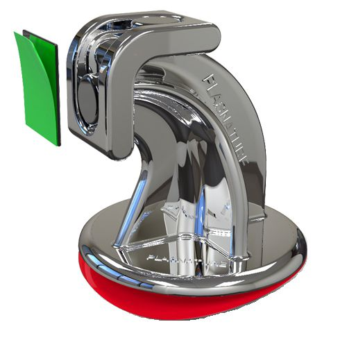 Trava Portas Magnético Cromado com Fixação Adesiva