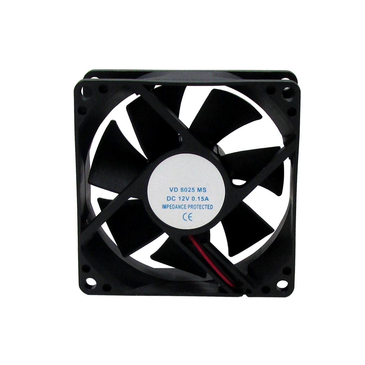 Ventilador Cooler Ventoinha Fan 80x80x25mm 12 Volts Nova