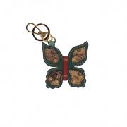 Chaveiro em formato de Borboleta Feito à Mão em Couro Legtimo Verde  Colatto