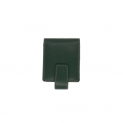 Porta Batom Duplo com Espelho em Couro Legitimo Verde - Colatto