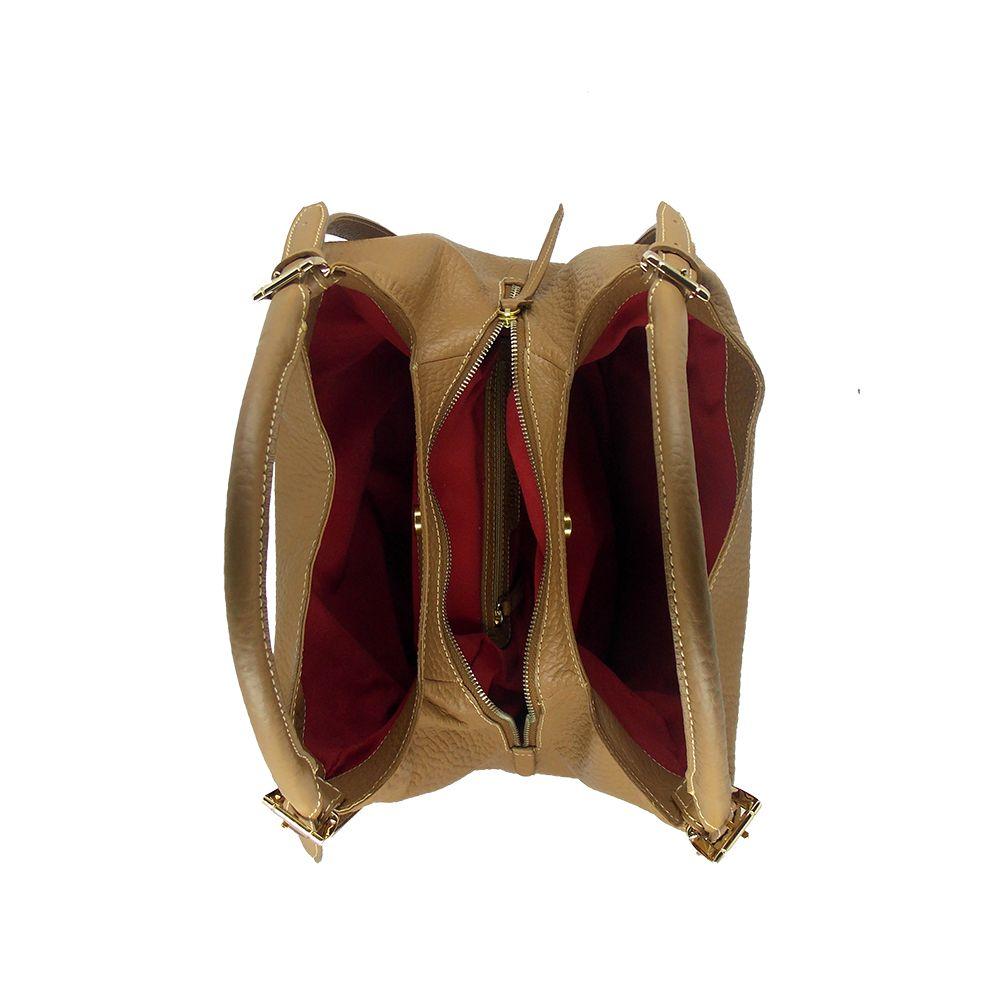 Bolsa Clássica de Couro Areia - Colatto