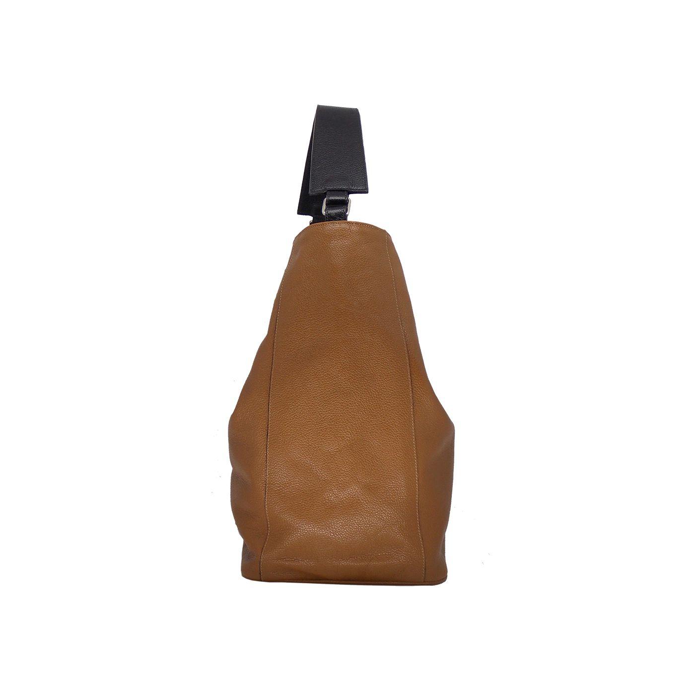 Bolsa Saco Feita em Couro Original Caramelo - Colatto