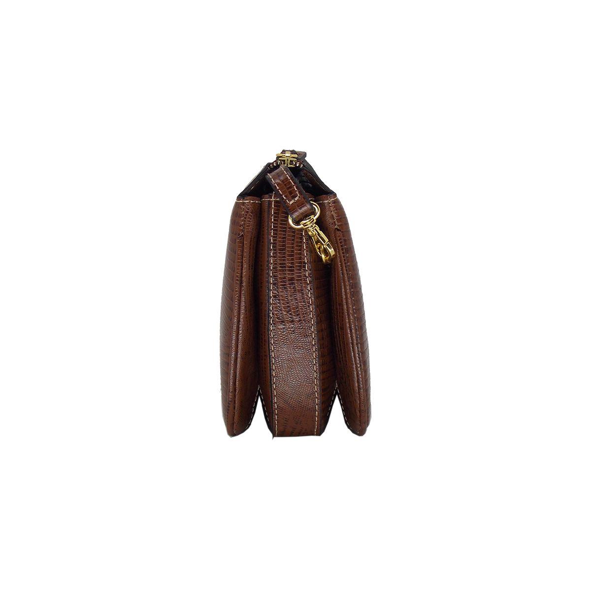 Bolsa Transversal de Couro Legítimo Chocolate - Colatto