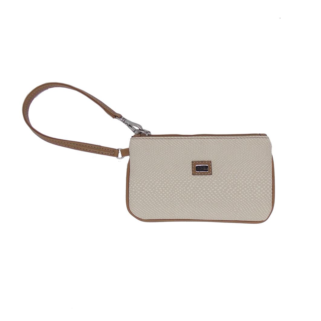 Carteira de Mão Pequena Porta Celular Off White - Colatto