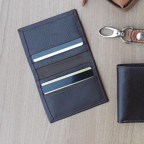 Carteira Porta Cartão de Crédito de Couro Legitimo Café - Colatto