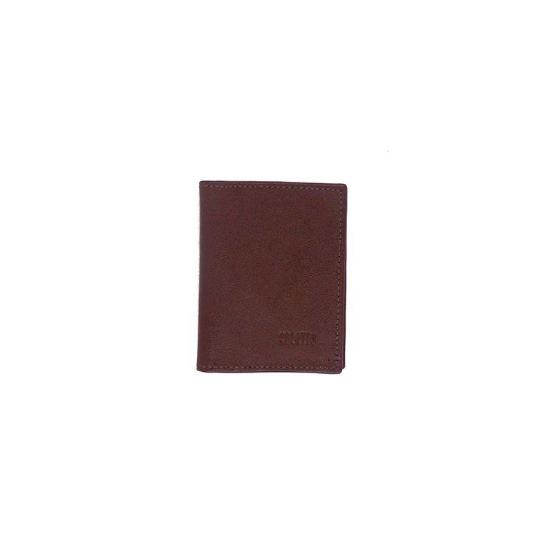 Carteira Porta Cartão de Crédito de Couro Legitimo Caramelo - Colatto