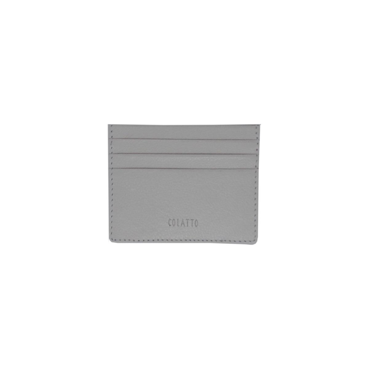 Carteira Porta Cartão de Crédito de Couro Legitimo Off White
