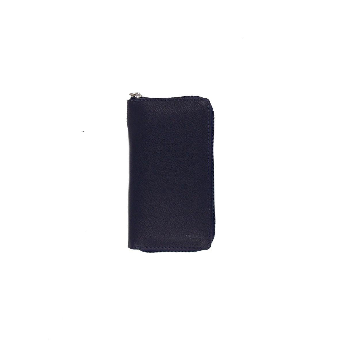 Kit Higiene Bucal em Couro Legitimo Azul Marinho Colatto
