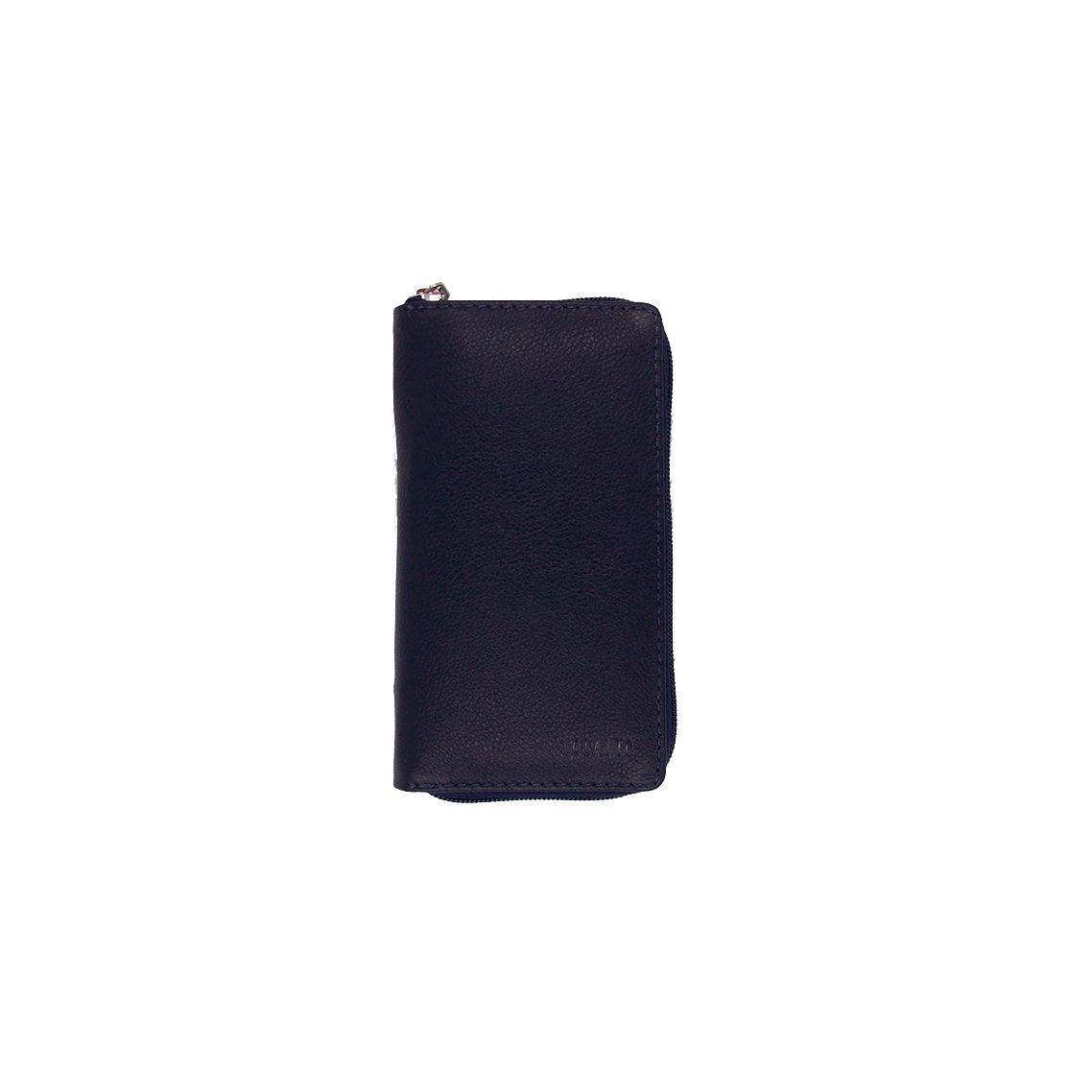 Kit Higiene Bucal em Couro Legitimo cor Preto Colatto