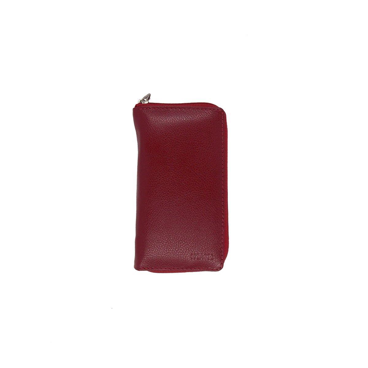 Kit Higiene Bucal em Couro Legitimo Vermelho Colatto