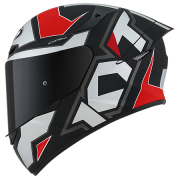 Capacete KYT TT-Course Electron Matt Grey/Red