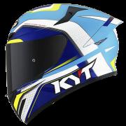 Capacete KYT TT-Course Grand Prix White/Blue