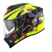 Capacete Suomy Stellar Wrench Matt Yellow Fluo/Grey