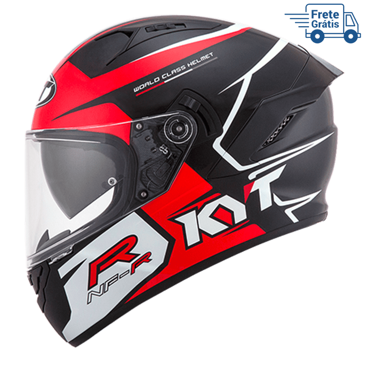 Capacete KYT NF-R Track Red