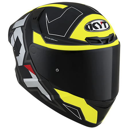 Capacete KYT TT-Course Electron Matt Black/Yellow
