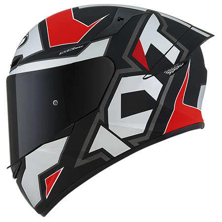 Capacete KYT TT-Course Electron Matt Grey/Red
