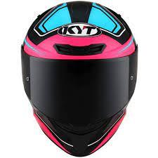Capacete KYT TT-Course Over Black Pink Preto Rosa Feminino