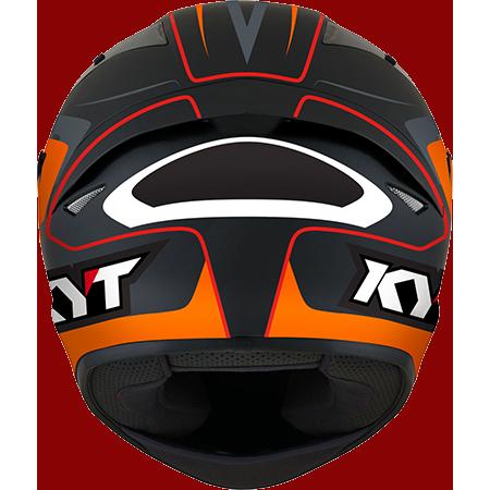 Capacete KYT TT-Course Overtech Black/Orange