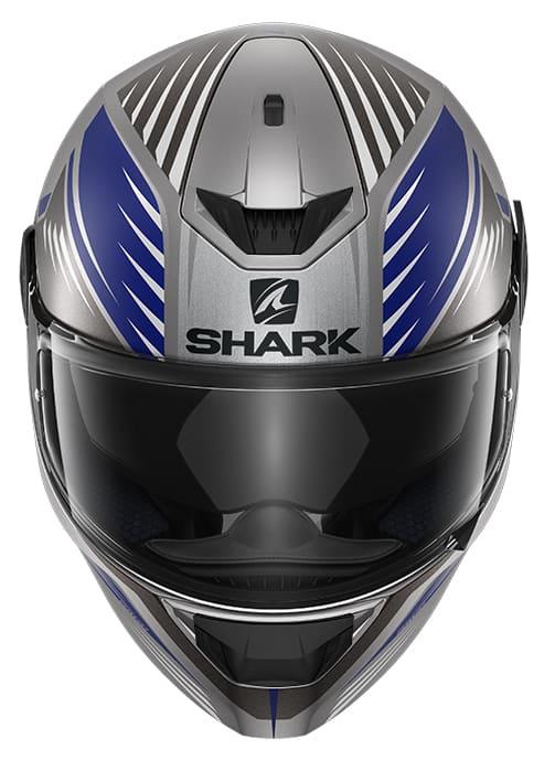 Capacete Shark D-Skwal V2 Hallder Matt ABA Cinza Azul