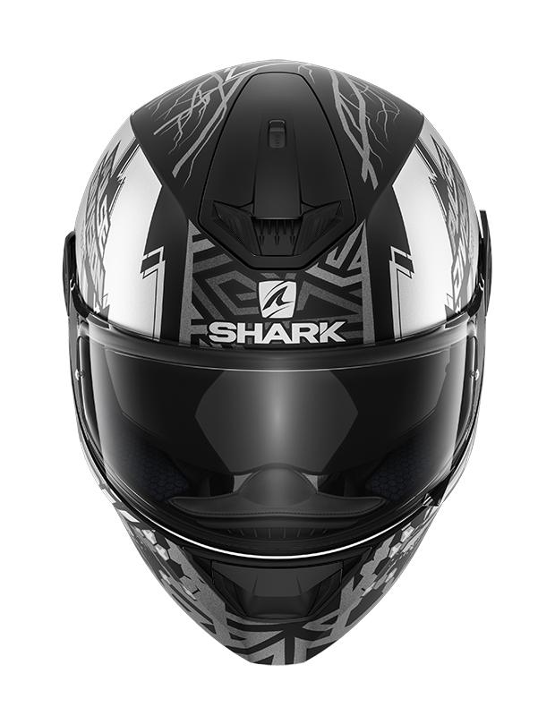 Capacete Shark D-Skwal V2 Noxxys Matt KAS Preto Cinza