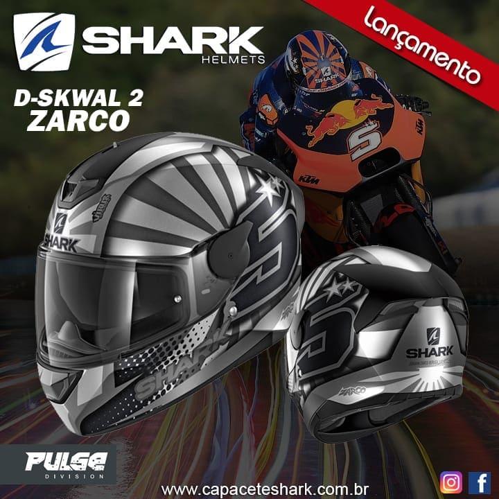 Capacete Shark D-Skwal V2 Replica Zarco 2019 Mat ASA