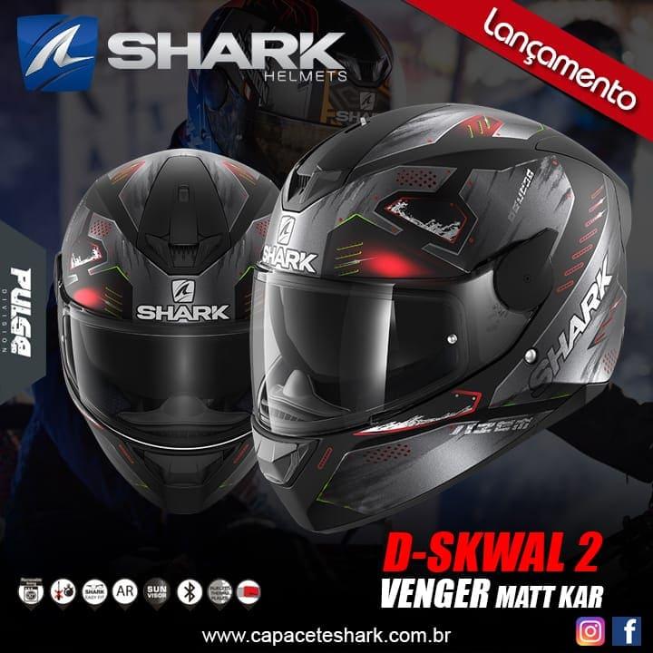 Capacete Shark D-Skwal V2 Venger Mat KAR