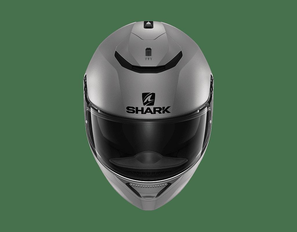 Capacete Shark Spartan Blank Mat AMA Cinza Fosco