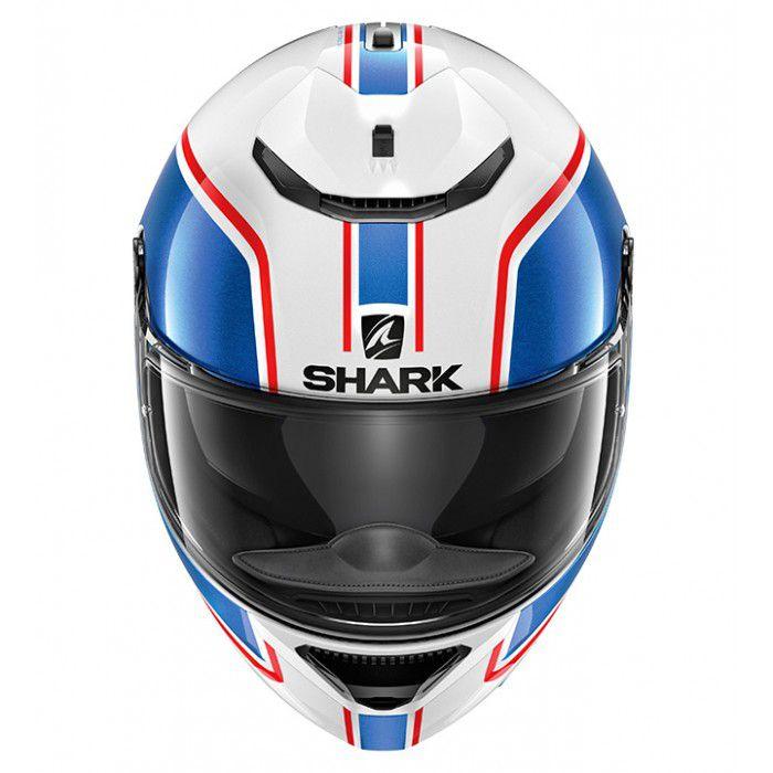 Capacete Shark Spartan Priona WBR Branco Azul Promoção