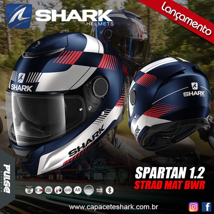 Capacete Shark Spartan Strad Mat BWR