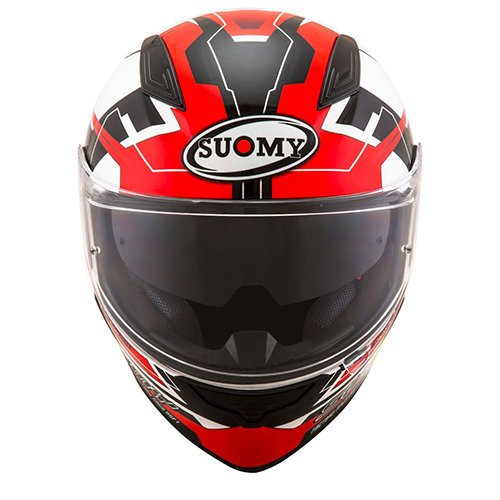 Capacete Suomy  Speedstar Camshaft Black/White/Red Promoção