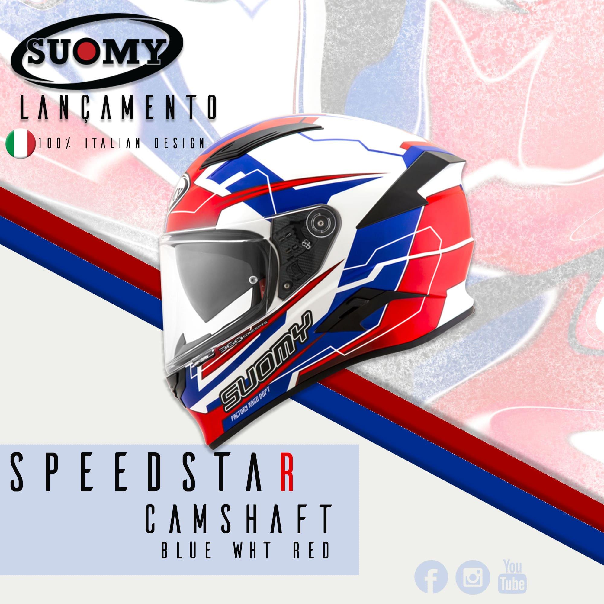 Capacete Suomy  Speedstar Camshaft Blue/White/Red