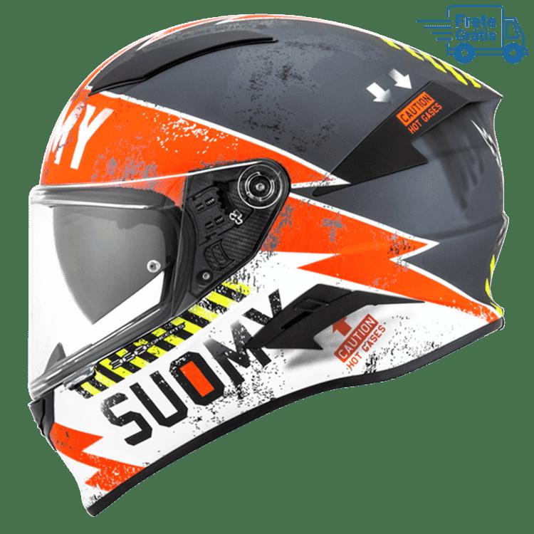 Capacete Suomy  Speedstar Propeller Matt Anthracite/Red