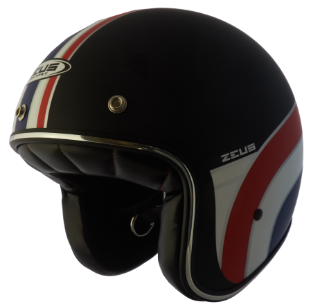 Capacete Zeus 380H V2 Rusty 3  Matt Black/Red/White