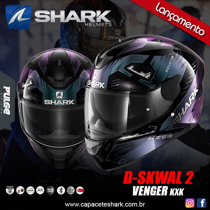 Capacete Shark D-Skwal V2 Venger KXK
