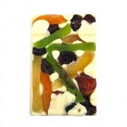 Barra de Chocolate Branco com Frutas