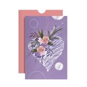 Cartão Coração Lilás