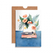 Cartão Vinil com Flores