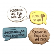 Pacote de Bolacha de Mel Confeitadas - Dia dos Pais