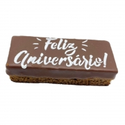 """Pão de Mel Recheado Doce de Leite  """" Feliz aniversário """""""